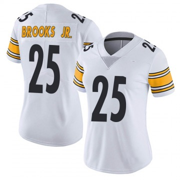 Women's Pittsburgh Steelers Antoine Brooks Jr. White Limited Vapor Untouchable Jersey By Nike