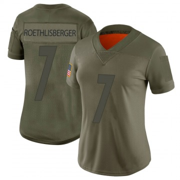 Women's Pittsburgh Steelers Ben Roethlisberger Camo Limited 2019 Salute to Service Jersey By Nike