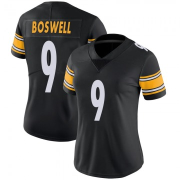 Women's Pittsburgh Steelers Chris Boswell Black Limited 100th Vapor Jersey By Nike