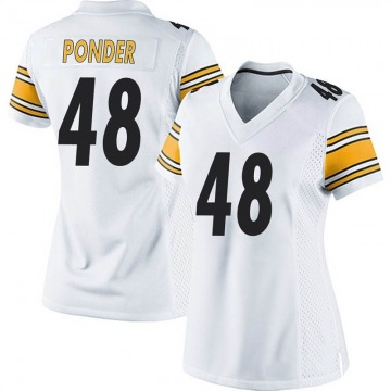 Women's Pittsburgh Steelers Jermaine Ponder White Game Jersey By Nike