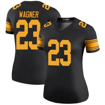 Women's Pittsburgh Steelers Mike Wagner Black Legend Color Rush Jersey By Nike