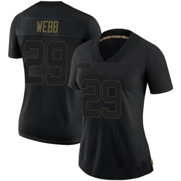 Women's Pittsburgh Steelers Ralph Webb Black Limited 2020 Salute To Service Jersey By Nike