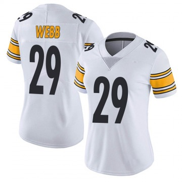 Women's Pittsburgh Steelers Ralph Webb White Limited Vapor Untouchable Jersey By Nike