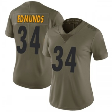 Women's Pittsburgh Steelers Terrell Edmunds Green Limited 2017 Salute to Service Jersey By Nike