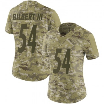 Women's Pittsburgh Steelers Ulysees Gilbert III Camo Limited 2018 Salute to Service Jersey By Nike