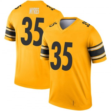 Youth Pittsburgh Steelers Alexander Myres Gold Legend Inverted Jersey By Nike