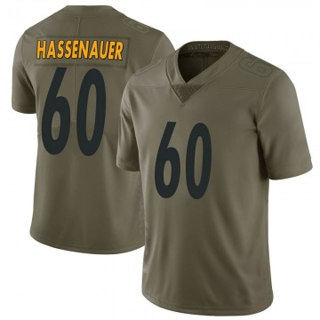 Youth Pittsburgh Steelers J.C. Hassenauer Green Limited 2017 Salute to Service Jersey By Nike