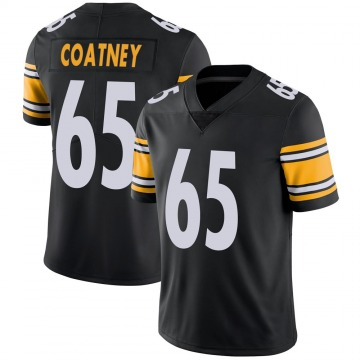 Youth Pittsburgh Steelers Josiah Coatney Black Limited Team Color Vapor Untouchable Jersey By Nike