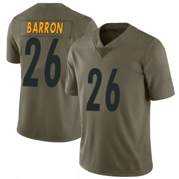 Youth Pittsburgh Steelers Mark Barron Green Limited 2017 Salute to Service Jersey By Nike
