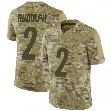 Youth Pittsburgh Steelers Mason Rudolph Camo Limited 2018 Salute to Service Jersey By Nike
