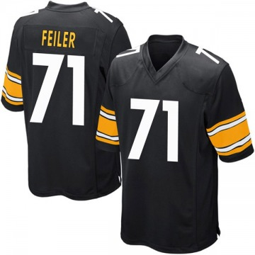 Youth Pittsburgh Steelers Matt Feiler Black Game Team Color Jersey By Nike