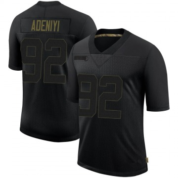 Youth Pittsburgh Steelers Olasunkanmi Adeniyi Black Limited 2020 Salute To Service Jersey By Nike