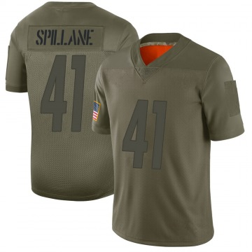 Youth Pittsburgh Steelers Robert Spillane Camo Limited 2019 Salute to Service Jersey By Nike